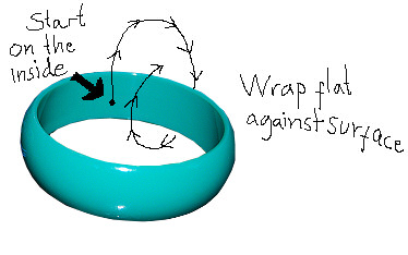 Thread bangle instructions 1