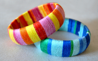 DIY Thread Bangles