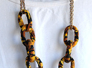 Fabric Chain Necklace
