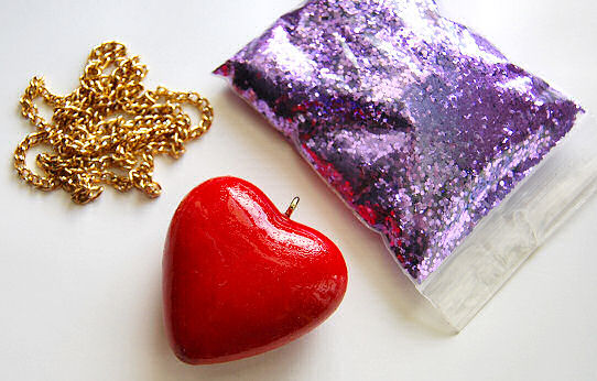 heart supplies necklace parts tutorial