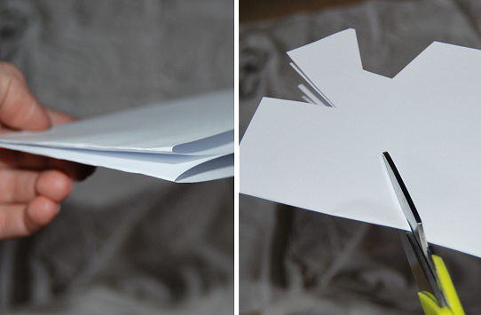 fold and cut shapes in paper