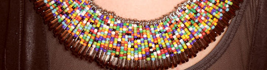 312 style safety pin statement necklace