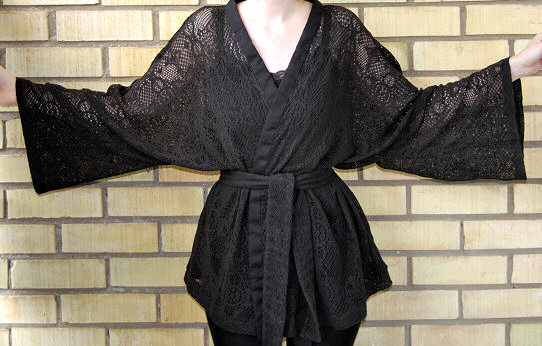 arms up kimono top wrap diy tutorial