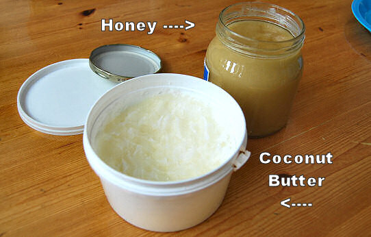 organic cocnut butter raw honey