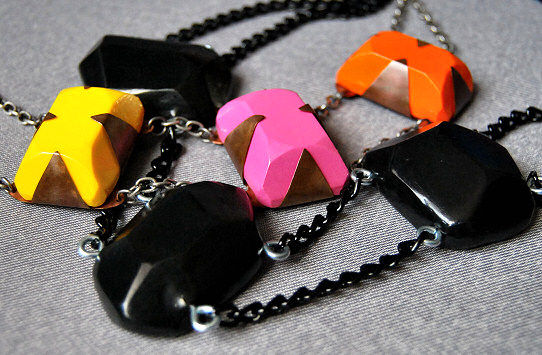statement necklaces polymer clay diy