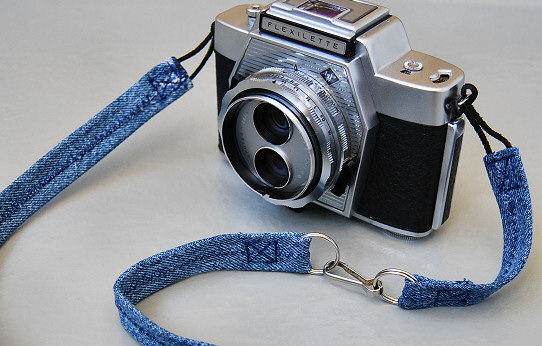 denim jean camera strap diy