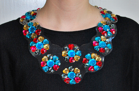 Clear Vinyl Plastic Statement Necklace DIY