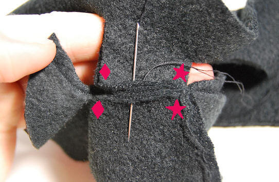 attaching a thumb 2 fleece mittens