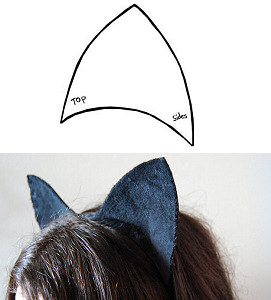 image regarding Printable Cat Ears called Do-it-yourself Cat Ears Headband Practice - Do it yourself Digital Fretboard