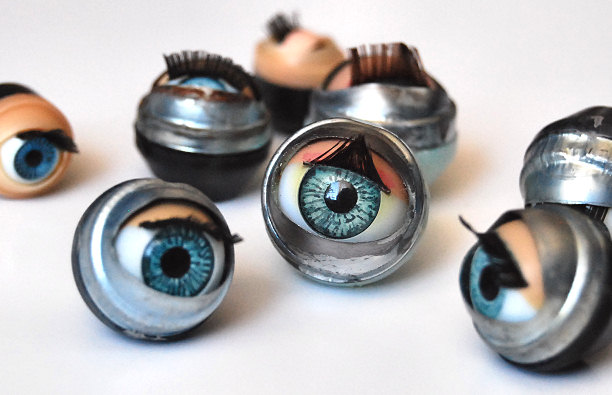 blinking dolls eye's eye doll vintage craft retro doll making supplies