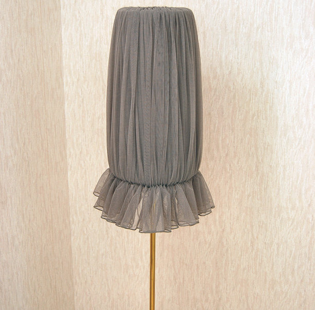 lamp cover diy what do do with old skirt tutorial shade