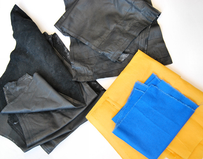 fabric used for leather bag diy