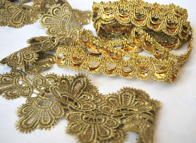 whole port golden lace trim shop crafting supplies