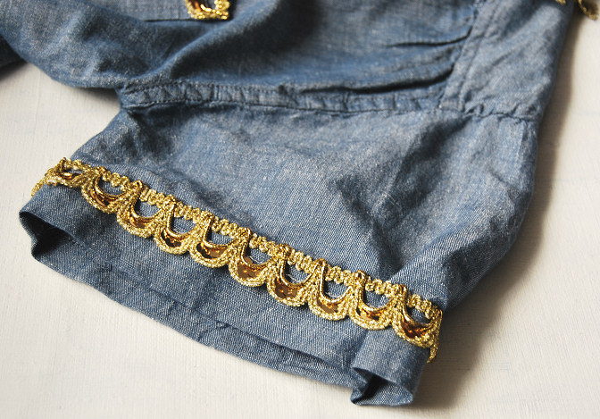 denim blue top spring summer chic fashion blog rags to couture diy tutorials