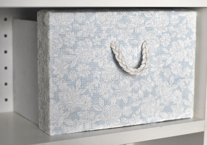 making two boxes out of one paper diy fabric drawers drawer junk box storage organizing