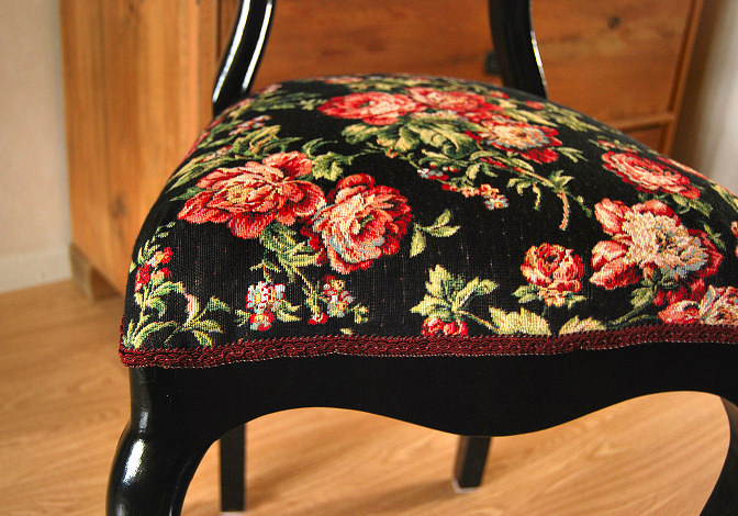 chair rococo upholstery renovation fabric diy antique