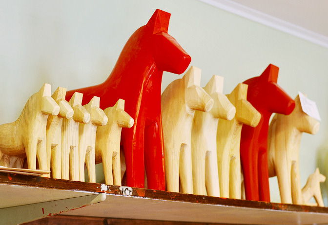 painted and unpainted horses
