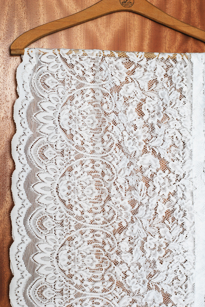 lace curtain on hanger