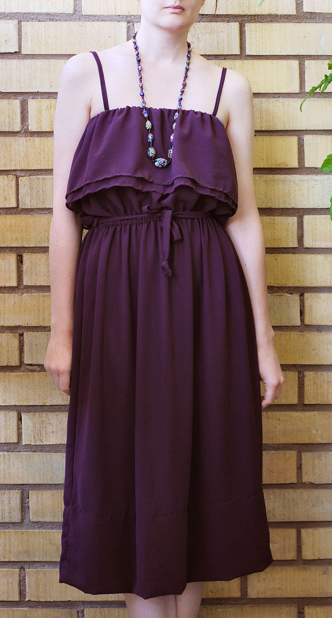 chiffon dress diy full figure
