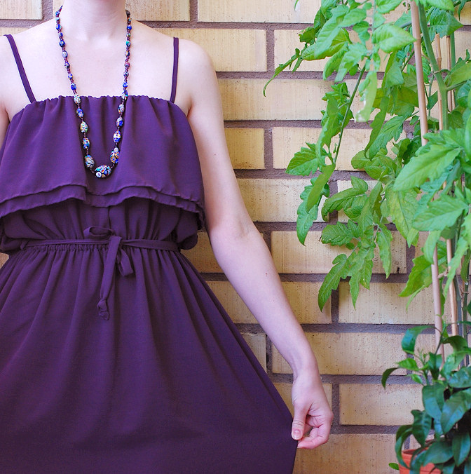 chiffon dress diy tutorial easy to sew