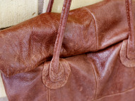Repurposed Leather Bag