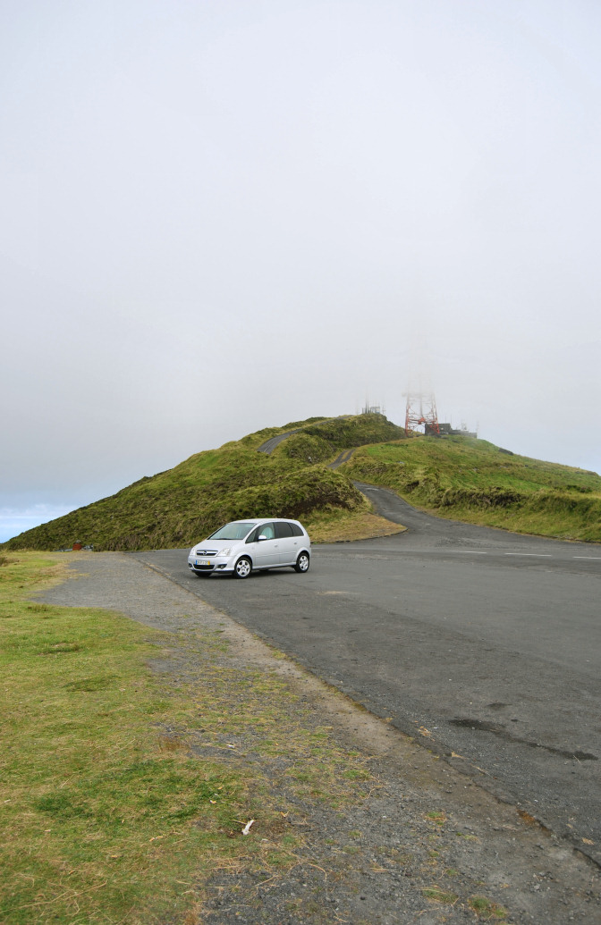 rental car top of mountain