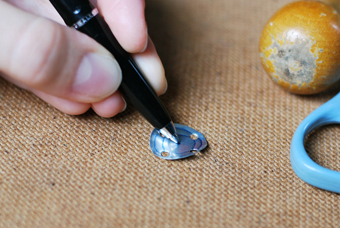 make impressions with ball point pen