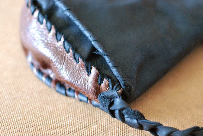 no sew leather bag scrap leather