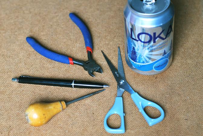 soda can craft supplies metalwork