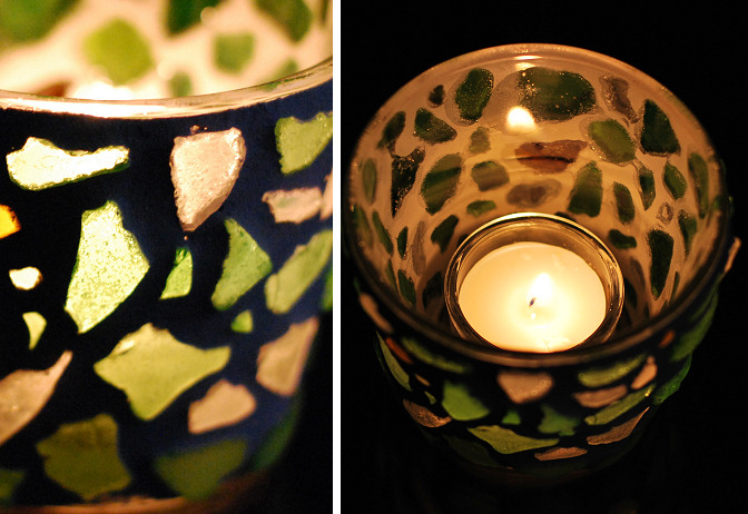 mosaic votive holder
