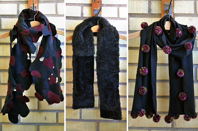 scrap fabric scarves diy tutorial