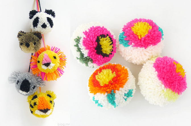 Mr Printables  Aniaml and Flower Pom Pom DIY