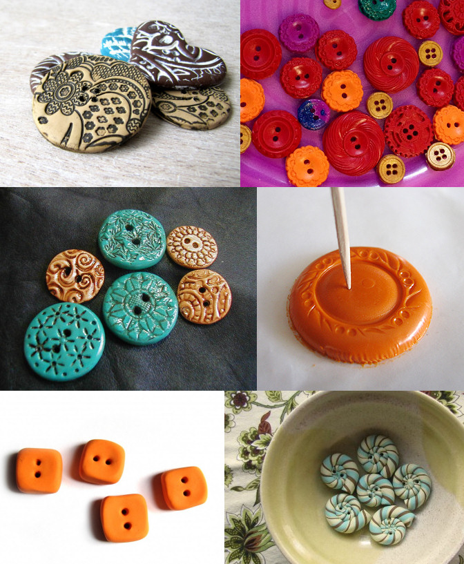 Polymer Clay Buttons Rags to Couture