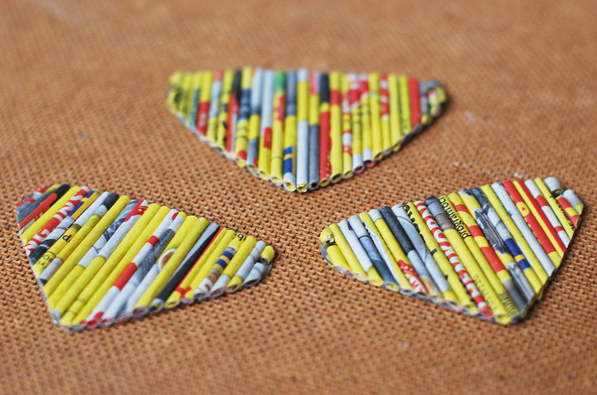 paper beads triangle necklace diy