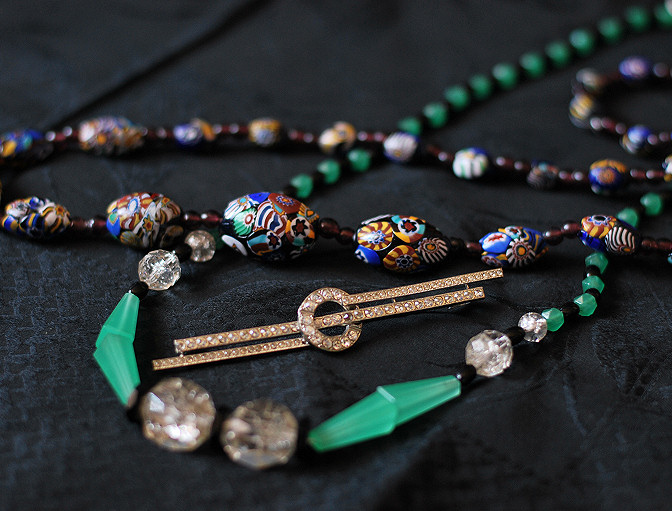 murano art deco necklaces