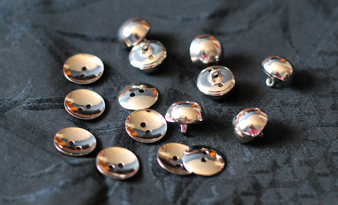 vintage silver metal buttons