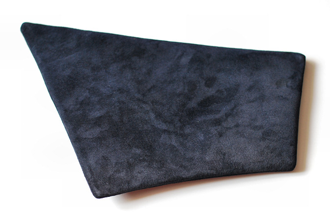 blue suede clutch bag diy