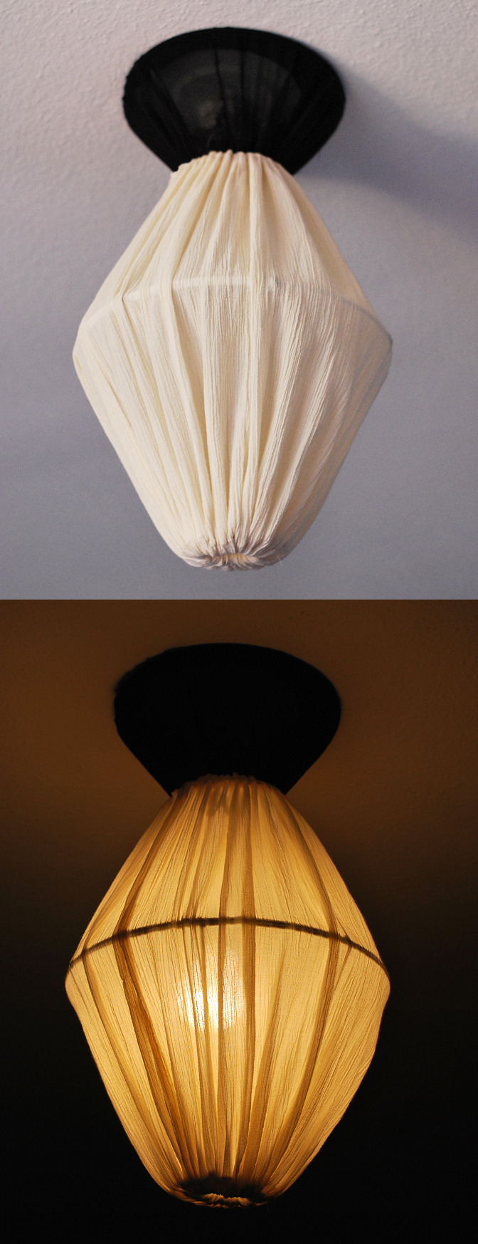 lamp shade ceiling light fixture diy