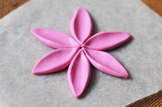 make a flower out of the petals