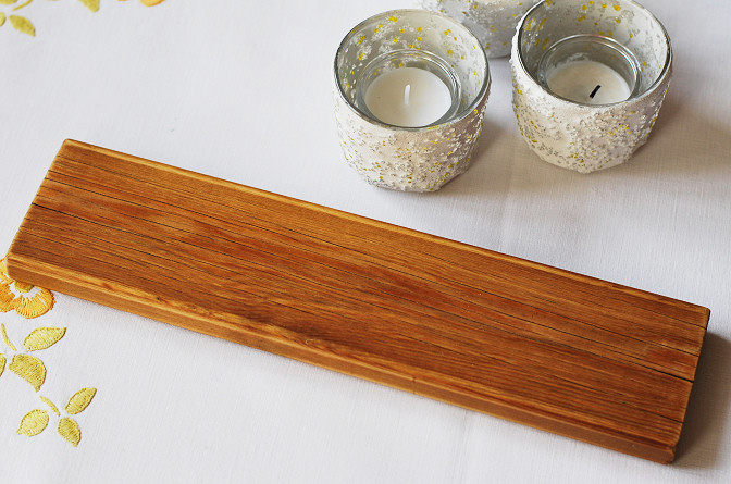 wood board for tealight holders