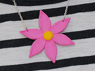 Polymer Clay Daisy Necklace