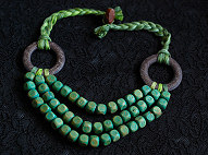 Yarn and Wood Necklace