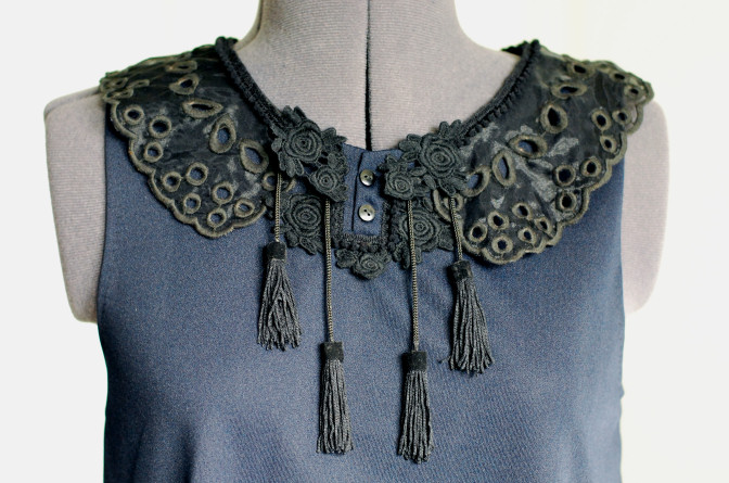 lace and tassel top diy