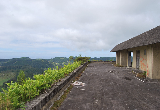 view from roof at monte palace in the azores