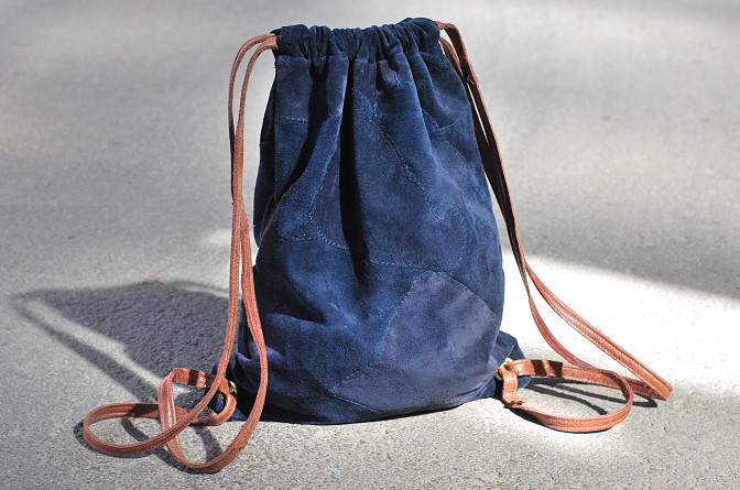 Gymsack Drawstring Backpack DIY | Rags to Couture