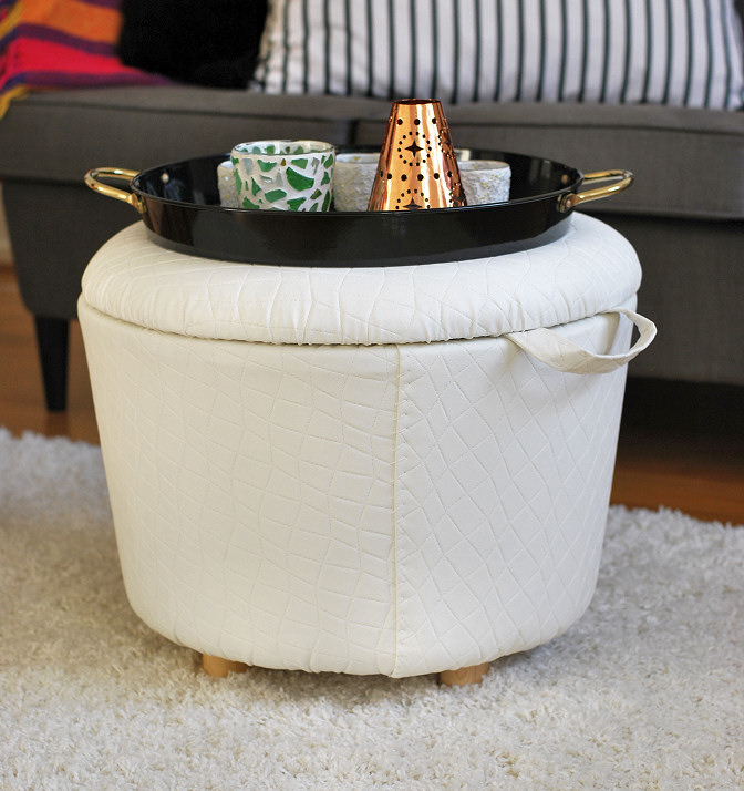 DIY Storage Ottoman | Rags to Couture