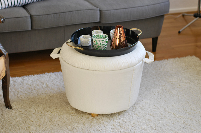 diy ottoman bucket storage
