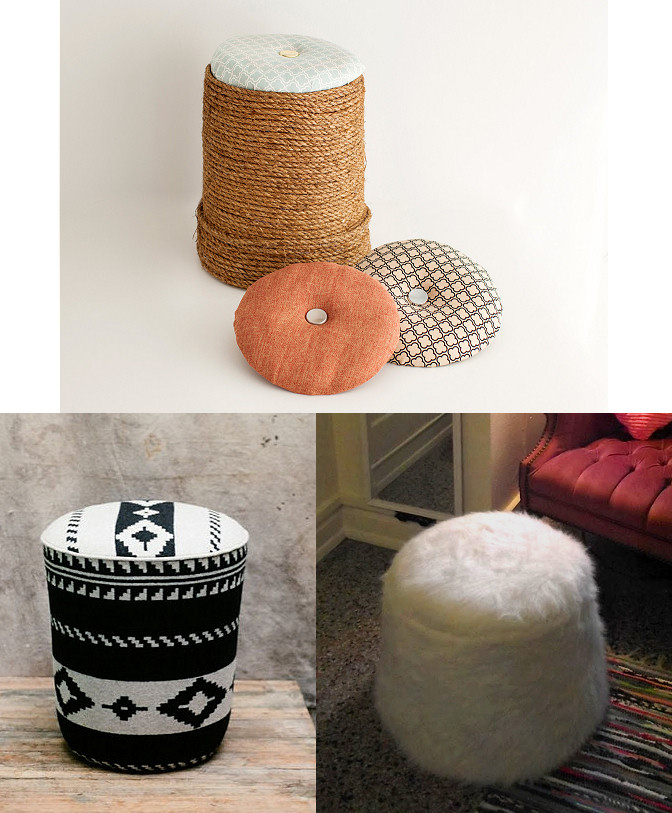 diy bucket ottoman pouf tutorials