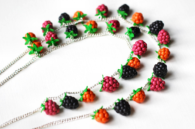 polymer clay necklace diy