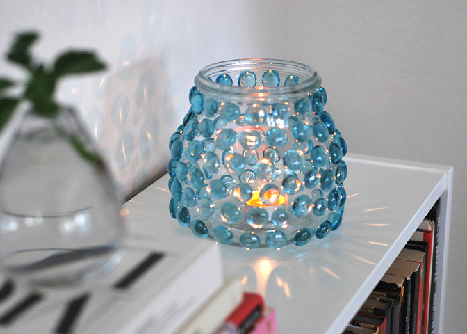 glass bauble lantern diy